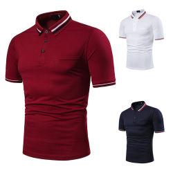 Мужчин на основе различных цветов футболки горловины повседневный Хлопок рубашки поло