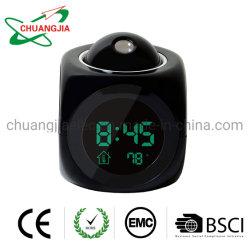 Reloj Despertador con Proyector digital de temperatura interior y la función de habla