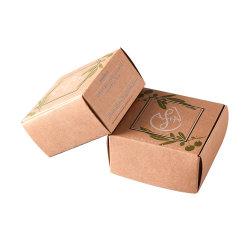 Дешевые складные биоразлагаемых природных Custom мыло упаковке, Складная индивидуальные малых коричневого картона картона крафт-бумаги .