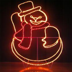 ほとんどの普及したLEDのスノーマンのクリスマスロープのモチーフライト