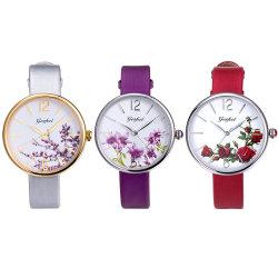 En acier inoxydable montre-bracelet Quartz Women Watch