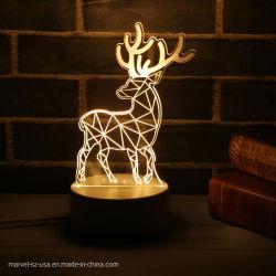 Lampen-Nachtlicht-Weihnachtsausgangsdekorationen der Weihnachtsgeschenk-3D LED