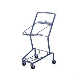 Warenkorb Warenkorb Drahtgitter einfacher Einkaufwagen mit Korb