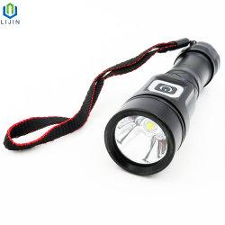 Lampada di soccorso ricaricabile, torcia elettrica di alto potere LED della carica del USB