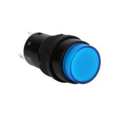 16мм защищенные 12В постоянного тока красный светодиодный индикатор 1 нет1NC круглой кнопки