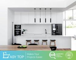 High-end лаком индивидуальные деревянные конструкции современных ПВХ деревянные кухонные шкафа электроавтоматики