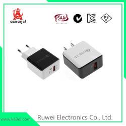 cargador USB QC3.0 móvil rápido de 5 V/3un adaptador de teléfono