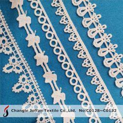 Merletto solubile in acqua del ricamo del tessuto degli accessori della tessile da vendere (C0128)