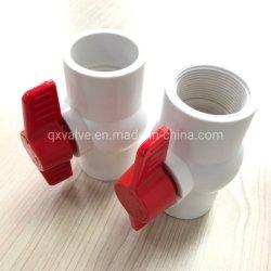PVC Compact clapet à bille pour siège d'alimentation de l'eau avec joint en téflon