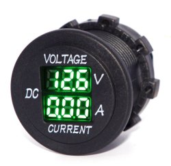 차량용 보트 선박용 LED 디지털 멀티미터 전압계 전류계