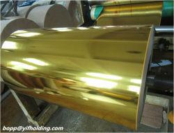 La película de poliéster de vacío metalizados oro para la decoración