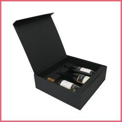 3 Verpakkende Vakje van de Wijn van het Vakje van de Presentatie van de Wijn van de fles het Zwarte