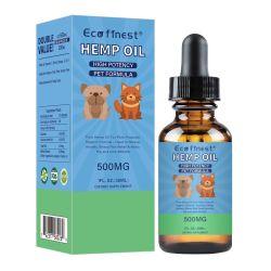 Olio di canapa puro organico dell'olio di Cbd dell'animale domestico dell'estratto 500mg dell'olio di Cbd della canapa di Beyou Cannabidiol per ansia