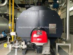 Emballé gaz, pétrole, chaudière à vapeur de carburant double avec brûleur européenne