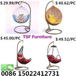 屋外のハング庭のテラスの藤の卵の振動屋内余暇の椅子