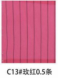 의복을 만들기 위하여 이용되는 정전기 방지 줄무늬 분홍색 색깔 직물
