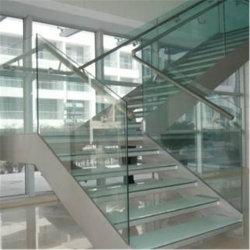 8mm 10mm 12mmultra fer faible épaisseur de verre feuilleté pour escaliers