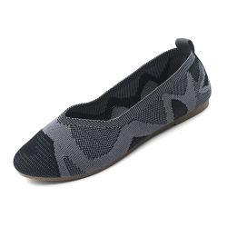 Модный стиль балет плоские женщин обувь с подошва из ПВХ