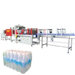 Automatisches doppeltes Rollenobere und unterere Film-Dichtungs-Ausschnitt-Wärme-Schrumpfverpackung für abgefülltes eingemachtes Trinkwasser, Getränk, Saft, Molkerei, usw. und Karton-Kasten