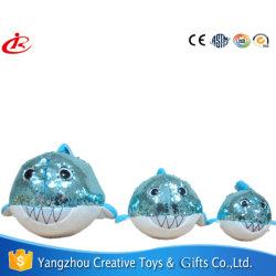 Различные виды рыб и мягкие игрушки с пайетками для детей