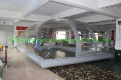 Couverture de piscine Gonflables de piscine d'eau, couvercle de la bulle
