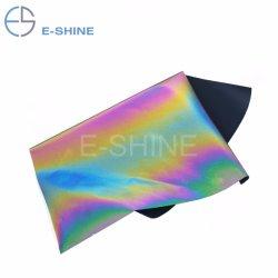 E-Lucidare il ferro materiale della sede potenziale di esplosione TPU su nastro riflettente della pellicola del vinile di scambio di calore del Rainbow caldo della pressa per gli indumenti