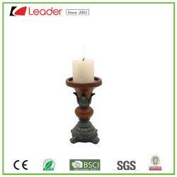 屋内および屋外の装飾のための手塗りのPolyresinの蝋燭ホールダー
