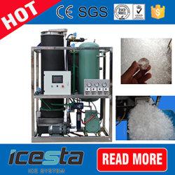 Pianta di ghiaccio industriale del tubo 10t con la stanza Semi-Automatica del rastrello della macchina del pacchetto