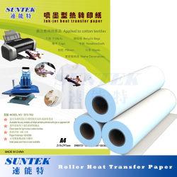 Papel de transferencia de calor de secado rápido con el rodillo de transferencia por sublimación de la máquina