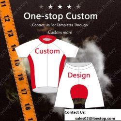 La bici di riciclaggio della busbana francese del ciclo della maglietta dell'OEM copre rapidamente asciutto tutto il formato Sportwear