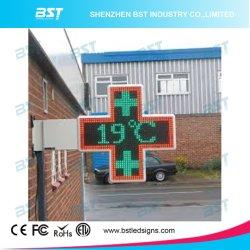 P16 Twoface Rg programmierbares im Freien LED Apotheke-Kreuz der Farben-