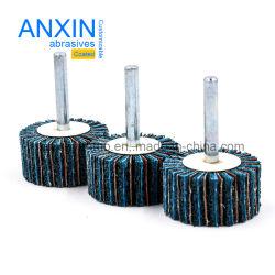 Roda da borboleta de nylon com pano de lixamento como entrelaçamento para metais
