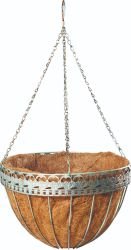 Hanging Basket décoratif pour les fleurs Panier en fil pour la plantation de fleurs