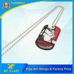 Рекламных подарков индивидуальные эпоксидной собака метка с ожерельем (DT03)