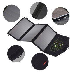 21W Sunpower faltbare USB-Gleichstrom-Handy-Energien-Bank-bewegliches Solaraufladeeinheits-Beutel-Druck-Firmenzeichen