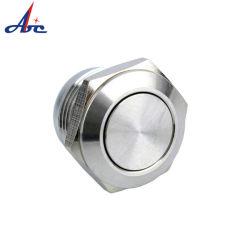 interruttore di pulsante d'ottone dell'acciaio inossidabile del Anti-Vandalo impermeabile del metallo di 12mm con la breve lunghezza
