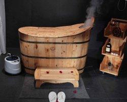 Hölzerne Bad-Wanne von der chinesischen Hersteller-Dampf-Sauna-Massage-Wanne