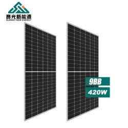 Bifacial zonnepaneel 415W 420W 425W 440W 166mm Solar Prijs van cellenpanel