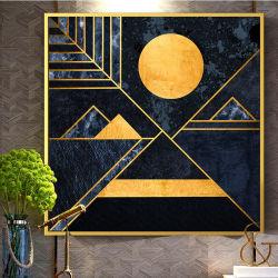 La peinture décorative géométrique abstrait moderne salle de séjour un canapé-mur de fond porche fresque murale Concepteur de salle de modèle de l'hôtel