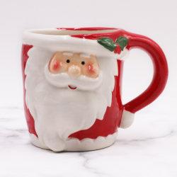 3D de Cerámica pintada a mano artesanía de regalo de Navidad Santa Adorable taza de café para el hogar decoración Inicio