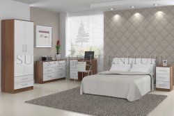 Barato moderna de madera Mobiliario de dormitorio Apartamento (SZ-BF053)