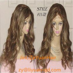 22дюймов влажных и волнистые Virgin бразильского Сен Реми человеческого волоса в полной мере кружева wig Wig (2015)