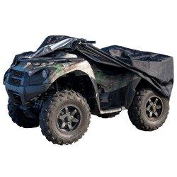 Acessório de motocicleta preta resistente protege 4 Wheeler da neve, chuva ou sol, grande tamanho único Universal 100 polegada para a maioria dos Quads, impermeáveis ATV cobrir
