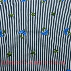 Хлопок полиэстер Embroider ткани для одежды футболка юбка детей износа