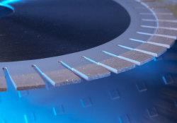 Горизонтальные огранки бриллиантов пильного полотна для Marble-Big дюймовых ножей для обработки камня