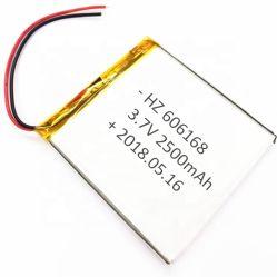 يوفر المورد تقنية الشحن المباشر بقدرة 3.7 فولت 2500 مللي أمبير/ساعة معتمدة من CE، بالإضافة إلى إمكانية الشحن عبر بطارية ليثيوم أيون قابلة للشحن بطارية خفيفة الوزن 606168 لبطارية مصباح الساعة