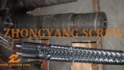 바이메탈 원뿔형 트윈 나사 배럴(PVC 파이프 압출기