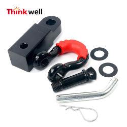 Treuil de remorquage forgé de montage du récepteur de l'attelage de remorque avec manille
