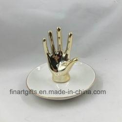 Керамические золотые руки дизайн украшения лоток украшения