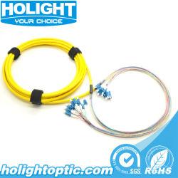12 Kabel van de Bundel van de Vezel van vezels LC/LC de Optische voor Telecommunicatie